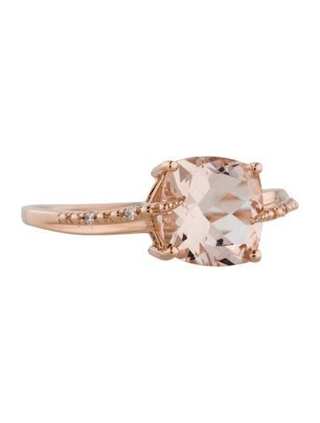 Ring Morganite and Diamond Ring