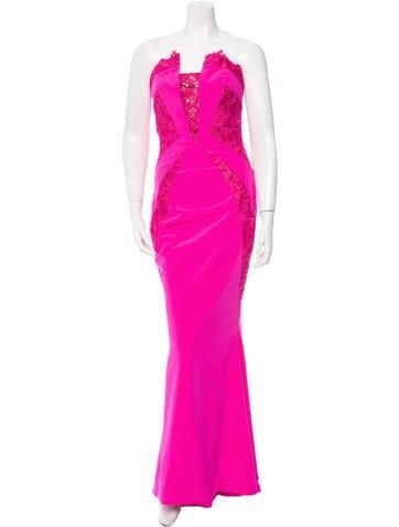 Rubin Singer Silk Strapless Gown