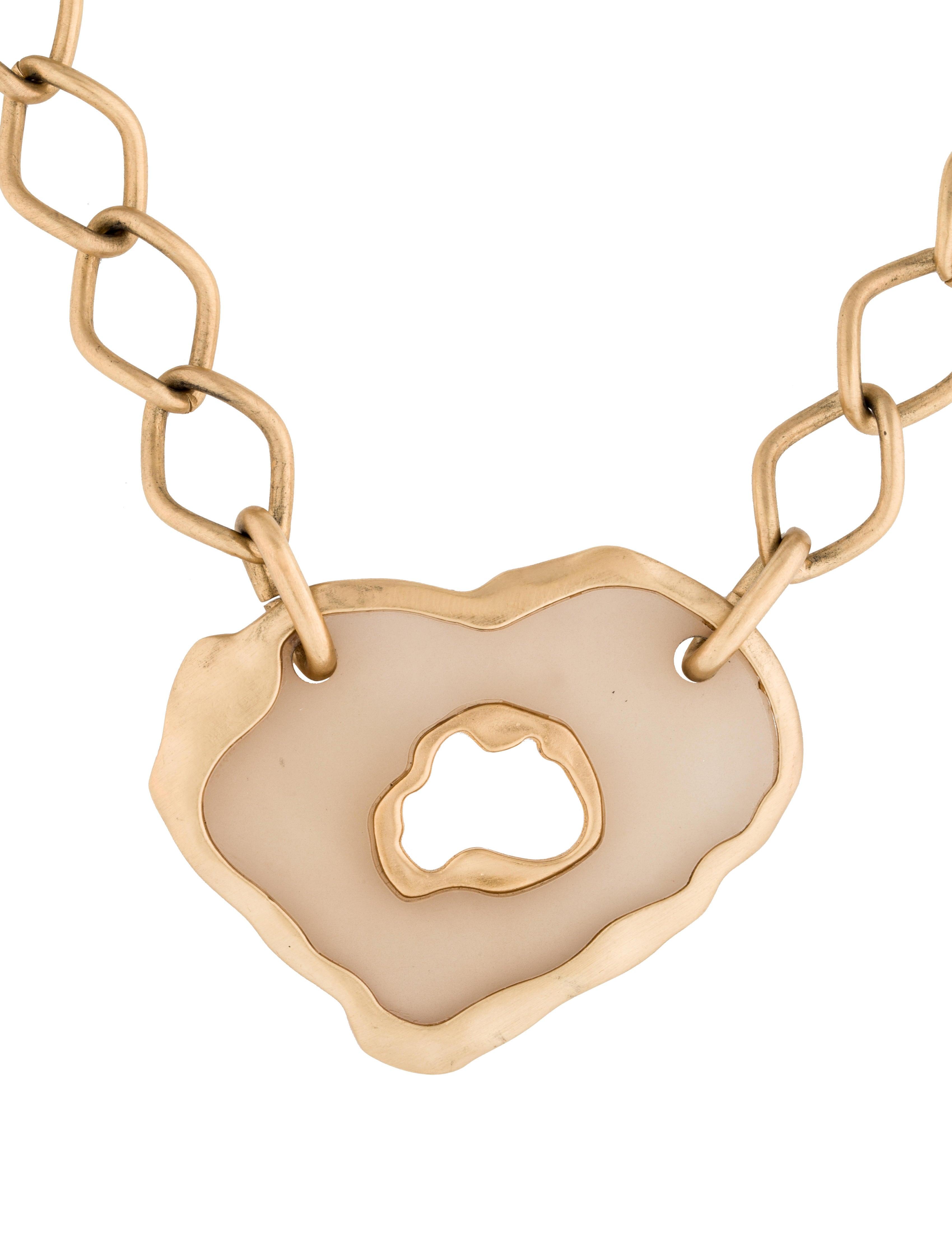 salvatore ferragamo lucite pendant necklace necklaces