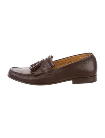 Salvatore Ferragamo Leather Tassel Loafers