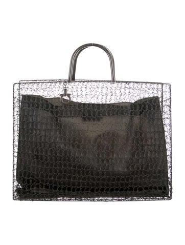 Salvatore Ferragamo Wire Crochet Tote None