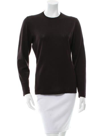 Salvatore Ferragamo Knit Long Sleeve Top None
