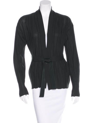 Salvatore Ferragamo Wool Rib Knit Cardigan None