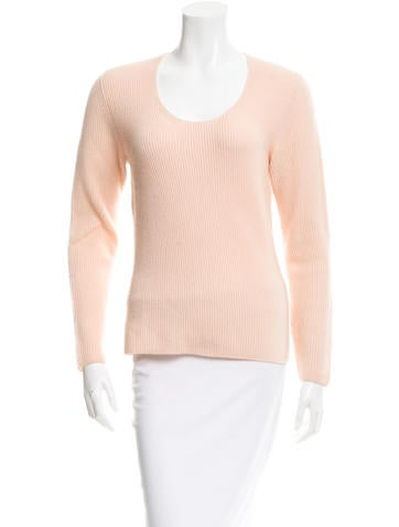 Salvatore Ferragamo Scoop Neck Cashmere Sweater None