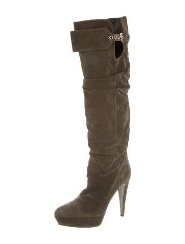 sergio suede knee high platform boots shoes