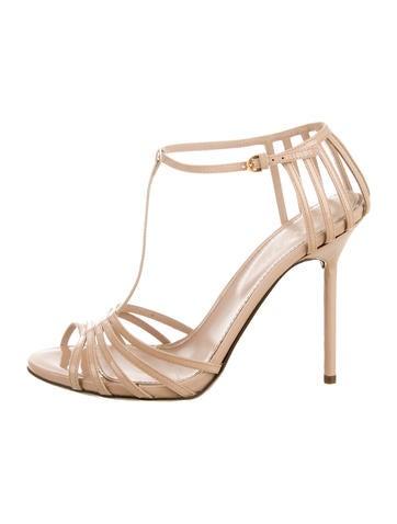 Sergio Rossi Patent Leather Multistrap Sandals None