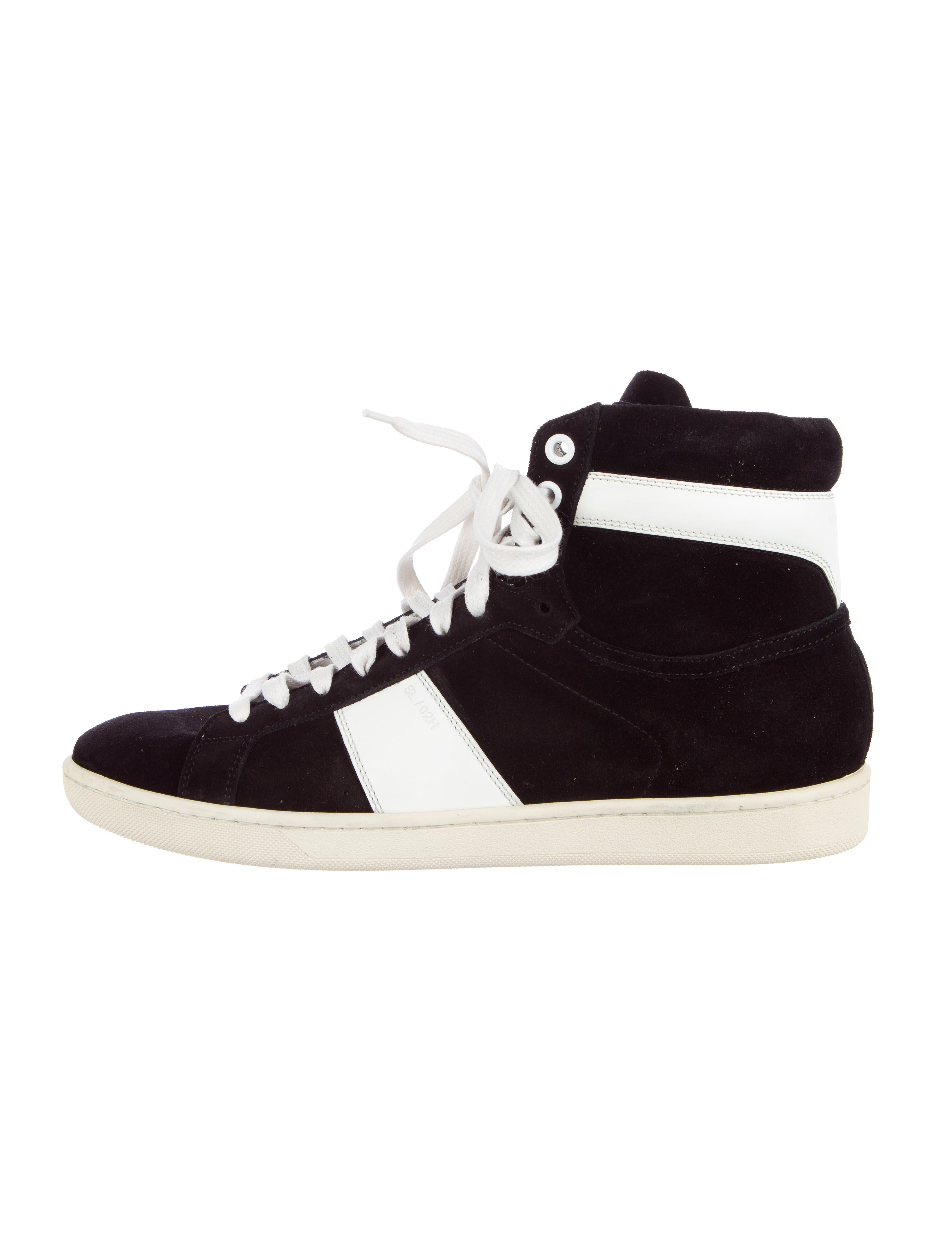 saint laurent sl 02h wolly sneakers mens shoes snt23575 the realreal. Black Bedroom Furniture Sets. Home Design Ideas