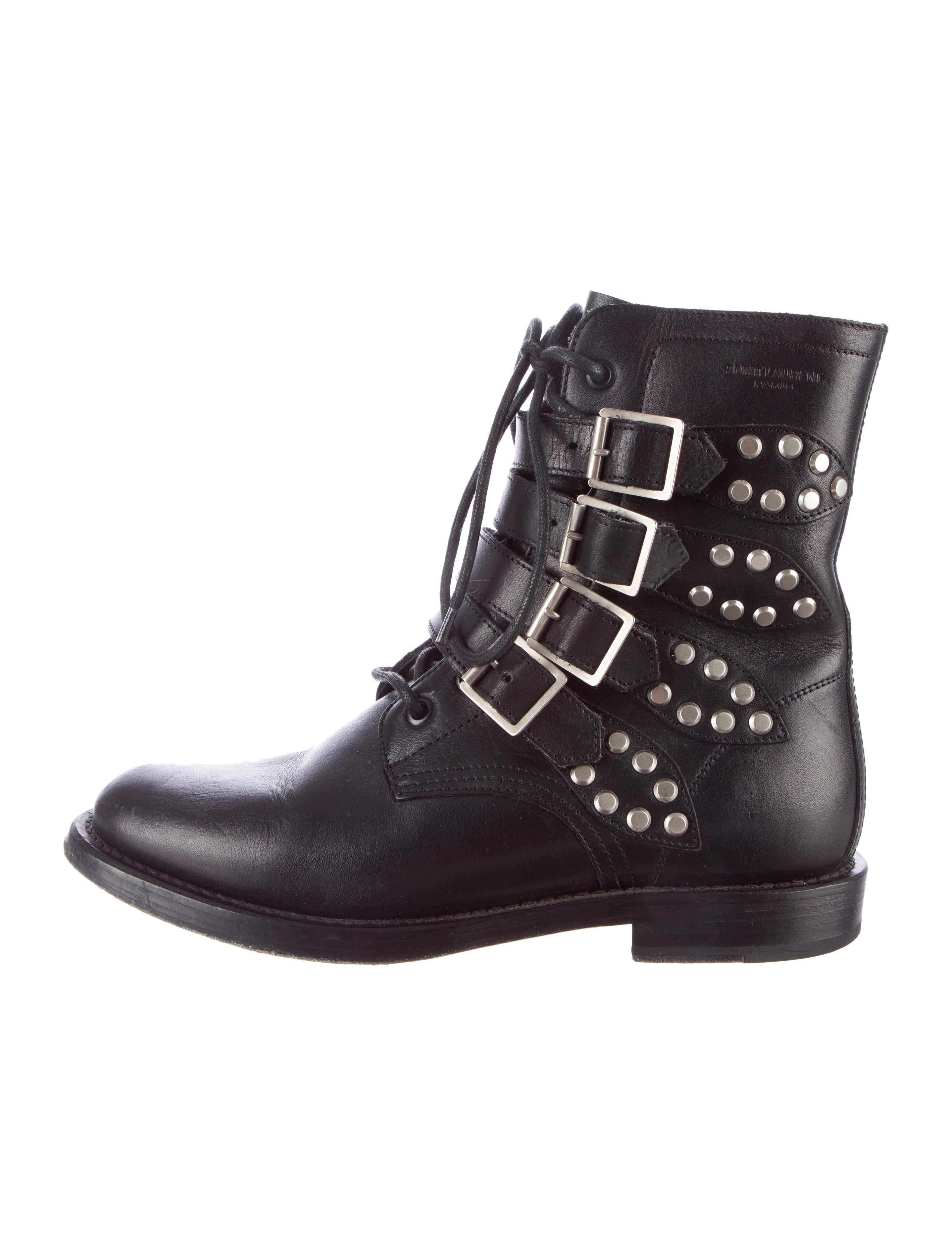 laurent studded biker boots shoes snt23991 the