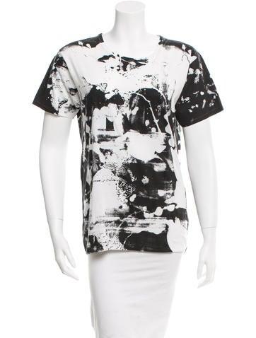 Saint Laurent Short Sleeve Printed T-Shirt