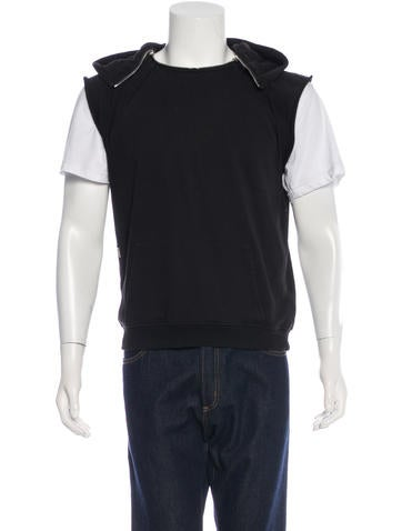 Saint Laurent Sleeveless Hooded Sweatshirt None