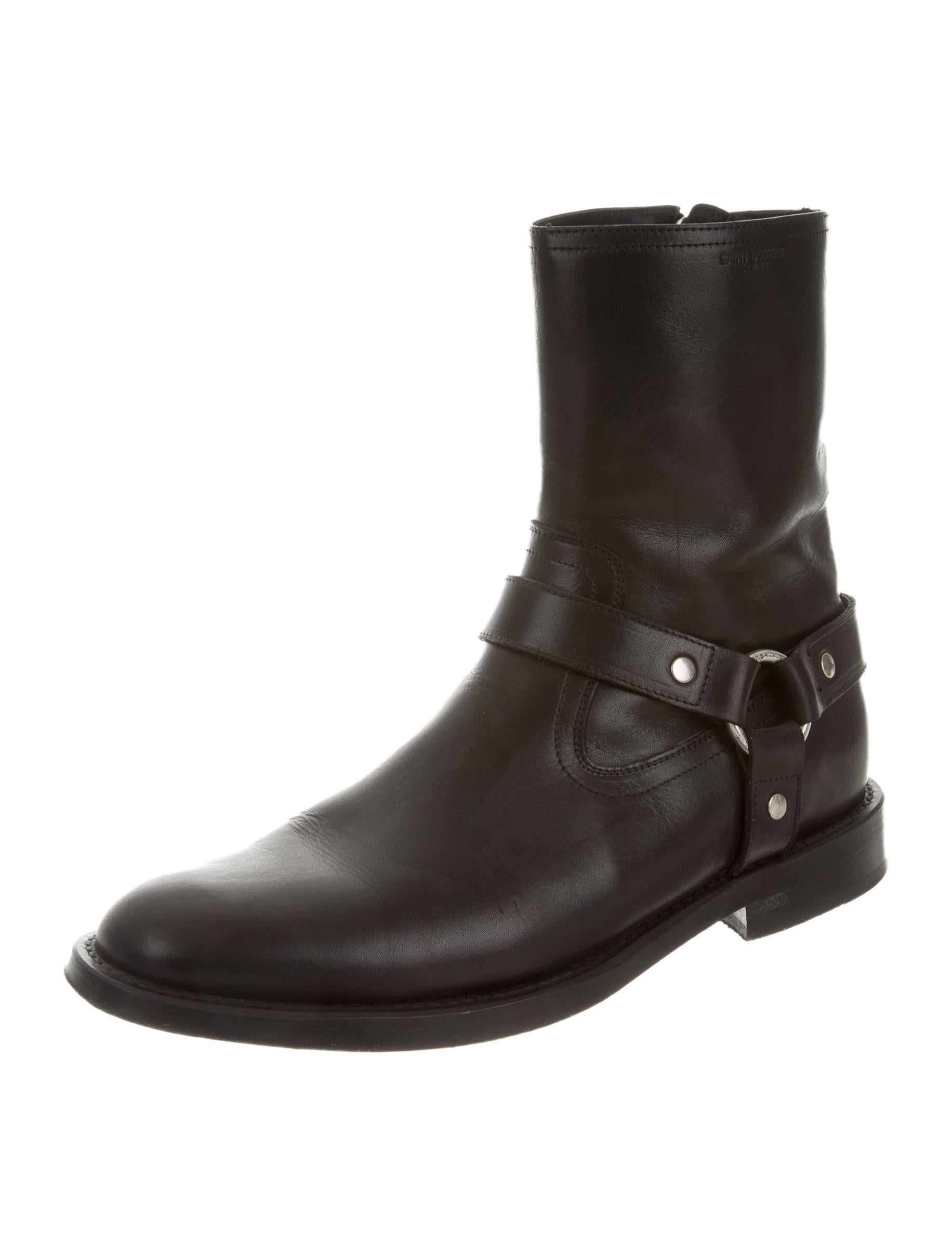 laurent leather moto boots shoes snt26337 the