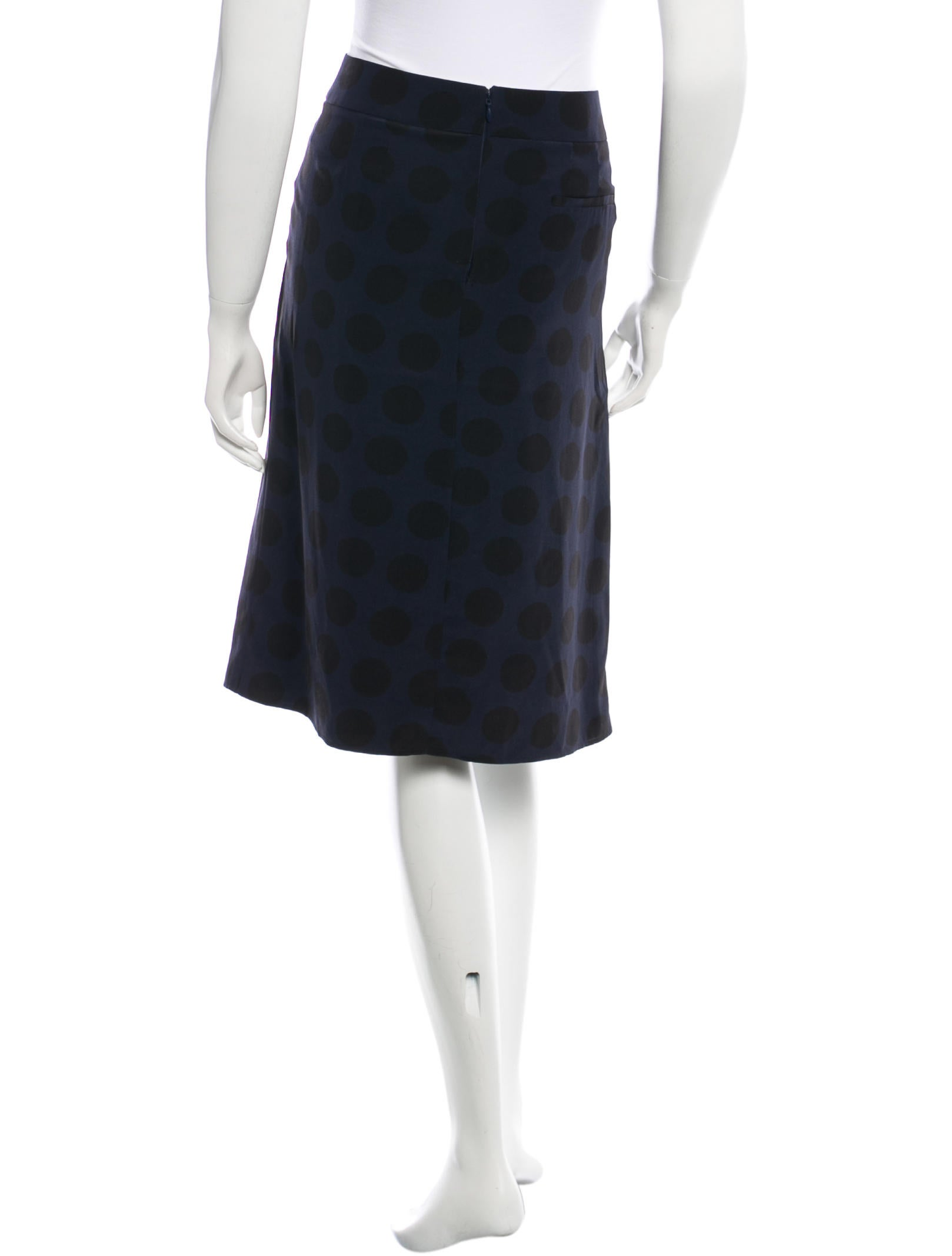 rykiel a line knee length skirt clothing