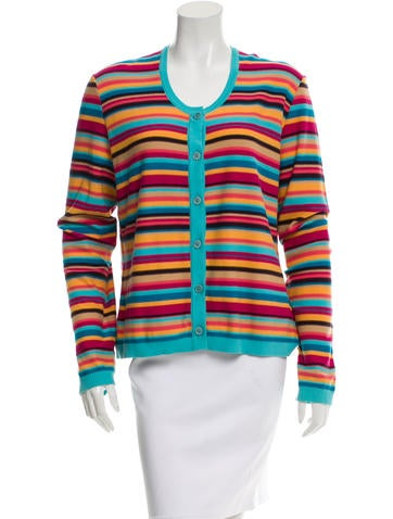 Sonia Rykiel Stripe Knit Cardigan None