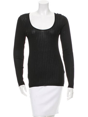Sonia Rykiel Rib Knit Long Sleeve Top None