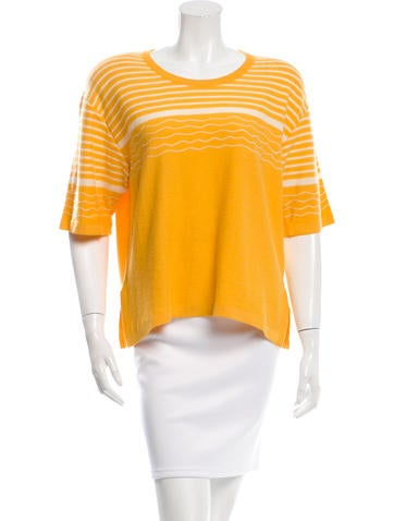 Sonia Rykiel Wool & Angora-Blend Knit Top None