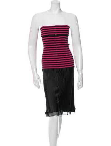Sonia Rykiel Strapless Silk-Blend Dress None