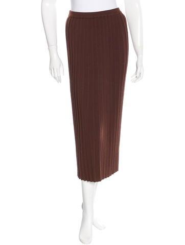 Sonia Rykiel Pleated Rib Knit Skirt None