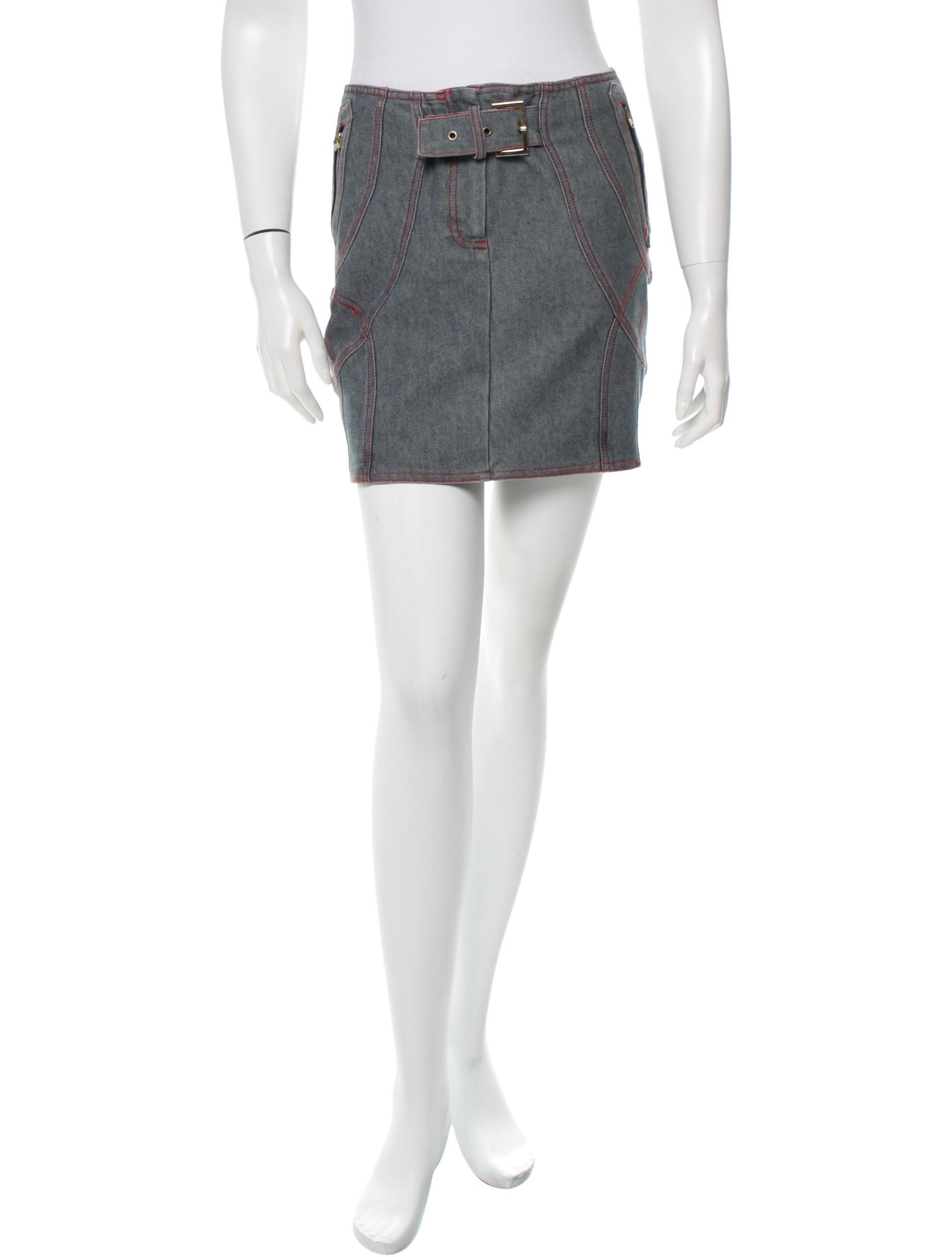 stella mccartney denim mini skirt skirts stl31404