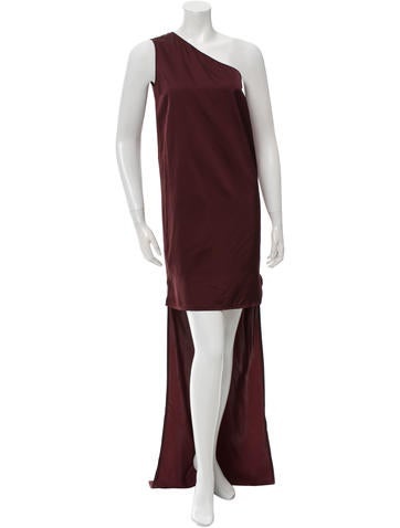 Stella McCartney One-Shoulder Sleeve Cocktail Dress None