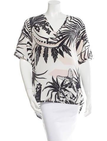 Stella McCartney Silk Abstract Print Tunic w/ Tags None
