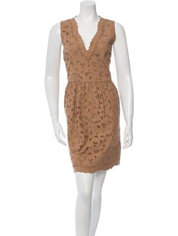 Stella McCartney Sleeveless Embroidered Dress None