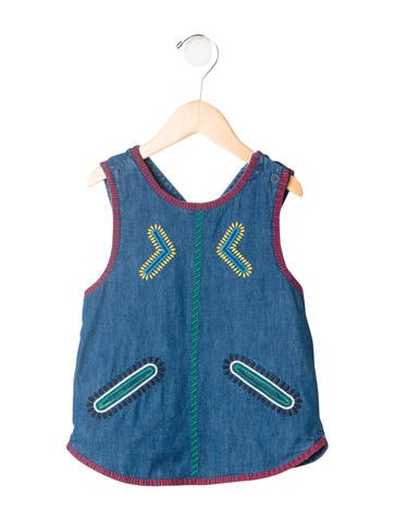 Stella McCartney Girls' Embroidered Sleeveless Top w/ Tags None