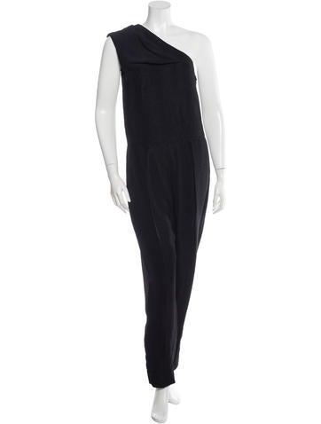 Stella McCartney One-Shoulder Embossed Jumpsuit None