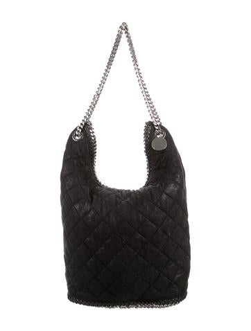 Stella McCartney Large Quilted Bucket Bag None