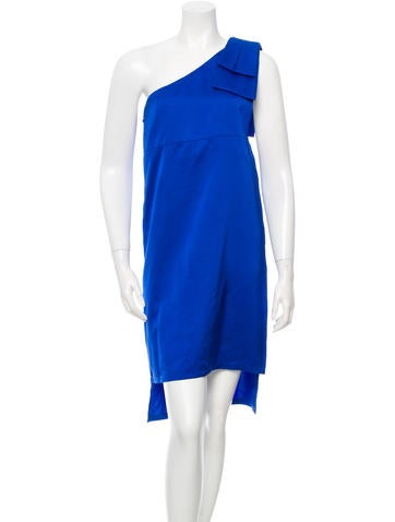 Stella McCartney Satin One-Shoulder Dress None