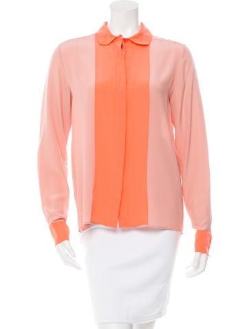Stella McCartney Silk Button-Up Top w/ Tags None