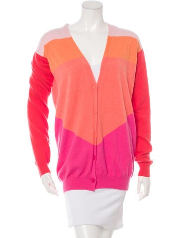 Stella McCartney Cashmere Colorblock Cardigan None