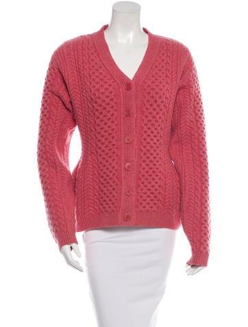 Stella McCartney Wool Cable Knit Cardigan None