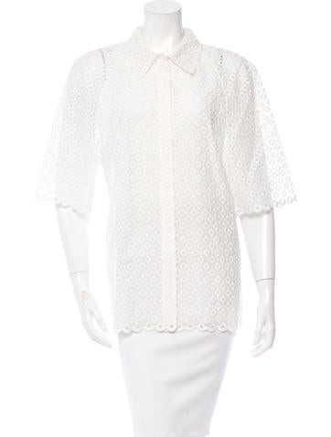 Stella McCartney Embroidered Cutout Top w/ Tags None