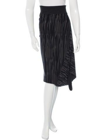 Stella McCartney Asymmetric Knit Skirt w/ Tags None