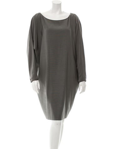 Stella McCartney Oversize Wool-Blend Dress None
