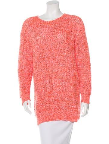 Stella McCartney Open Knit Oversize Sweater None