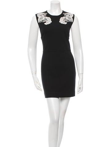 Stella McCartney Embroidered Mini Dress None