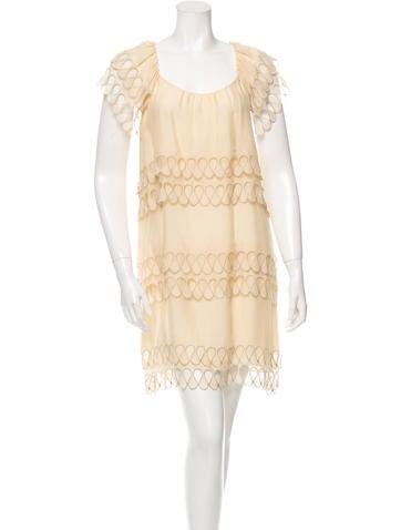 Stella McCartney Scalloped Silk Dress None