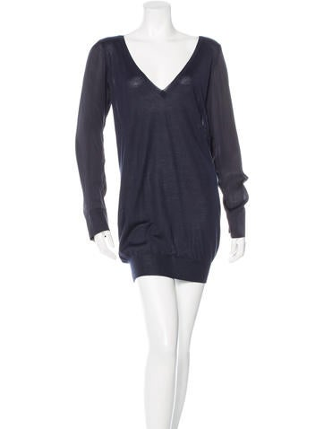 Stella McCartney Cashmere & Silk Blend Tunic None