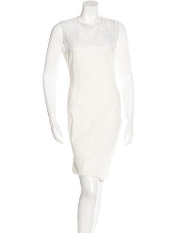 Stella McCartney Lace-Trimmed Sheath Dress None