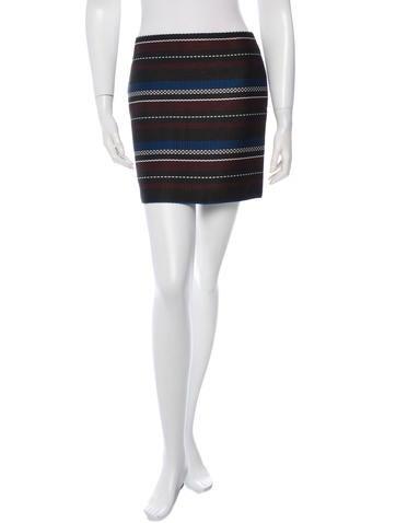 Suno Striped Mini Skirt None