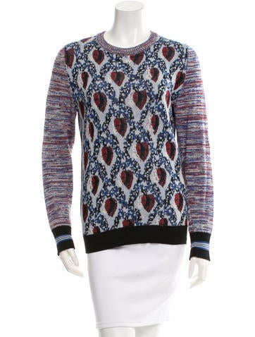 Suno Patterned Pullover Sweater None