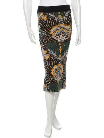 Suno Printed Midi Skirt None