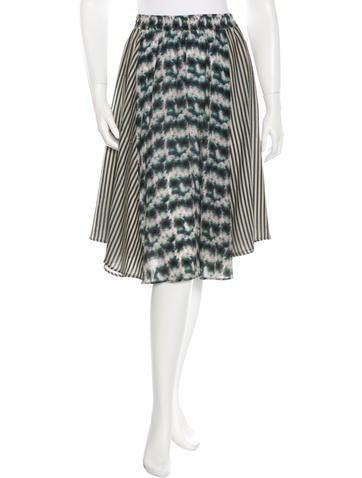 Suno Silk Knee-Length Skirt None