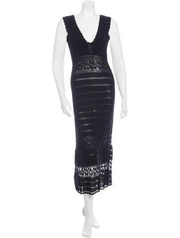 Temperley London Crochet Sleeveless Dress None