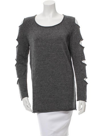 Tess Giberson Patterned Cutout Detailed Sweater w/ Tags