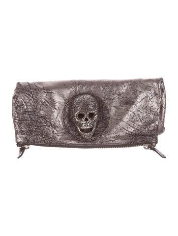 Thomas Wylde Leather Skull Clutch