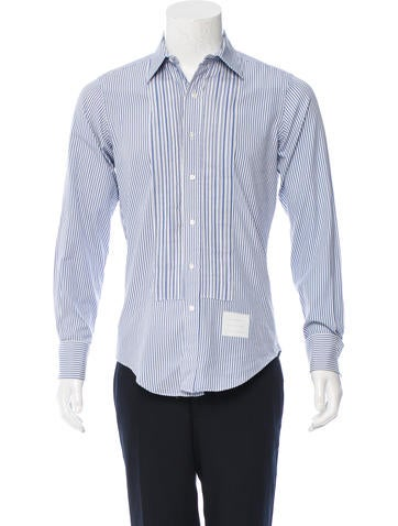 Thom Browne Striped Button-Up Shirt None