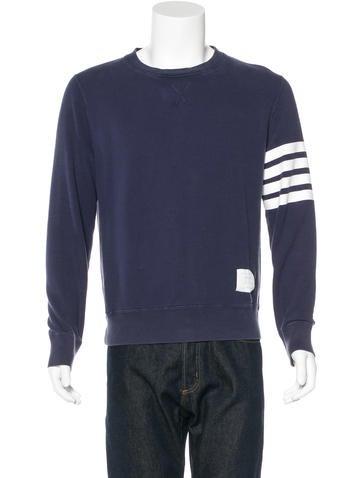 Thom Browne Striped Crew Neck Sweatshirt None