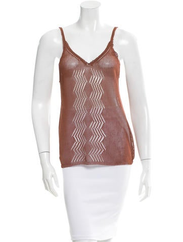 The Row Open Knit Sleeveless Top None